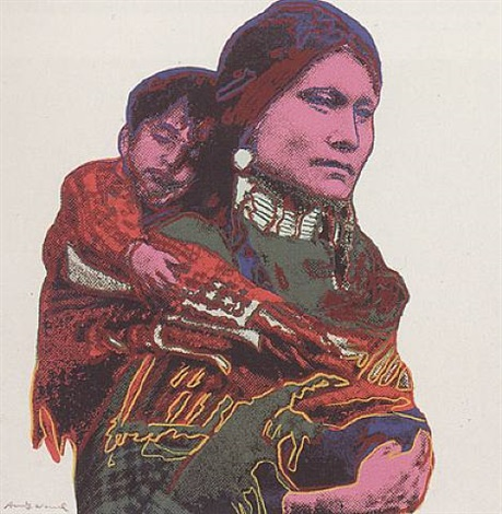 cowboys and indians - mother and child [ii.383] by andy warhol